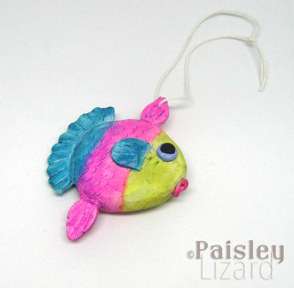 bright striped sunfish ornament