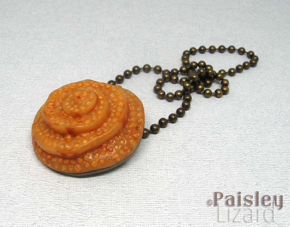 Spiral Bee Hive necklace